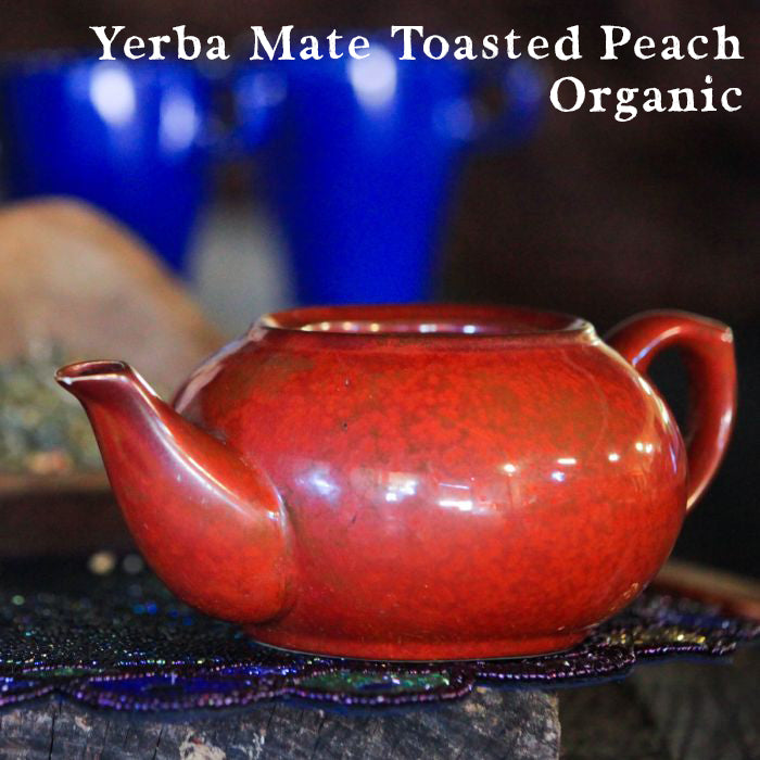 Yerba Mate Toasted Peach, Organic, 1/2 LB.
