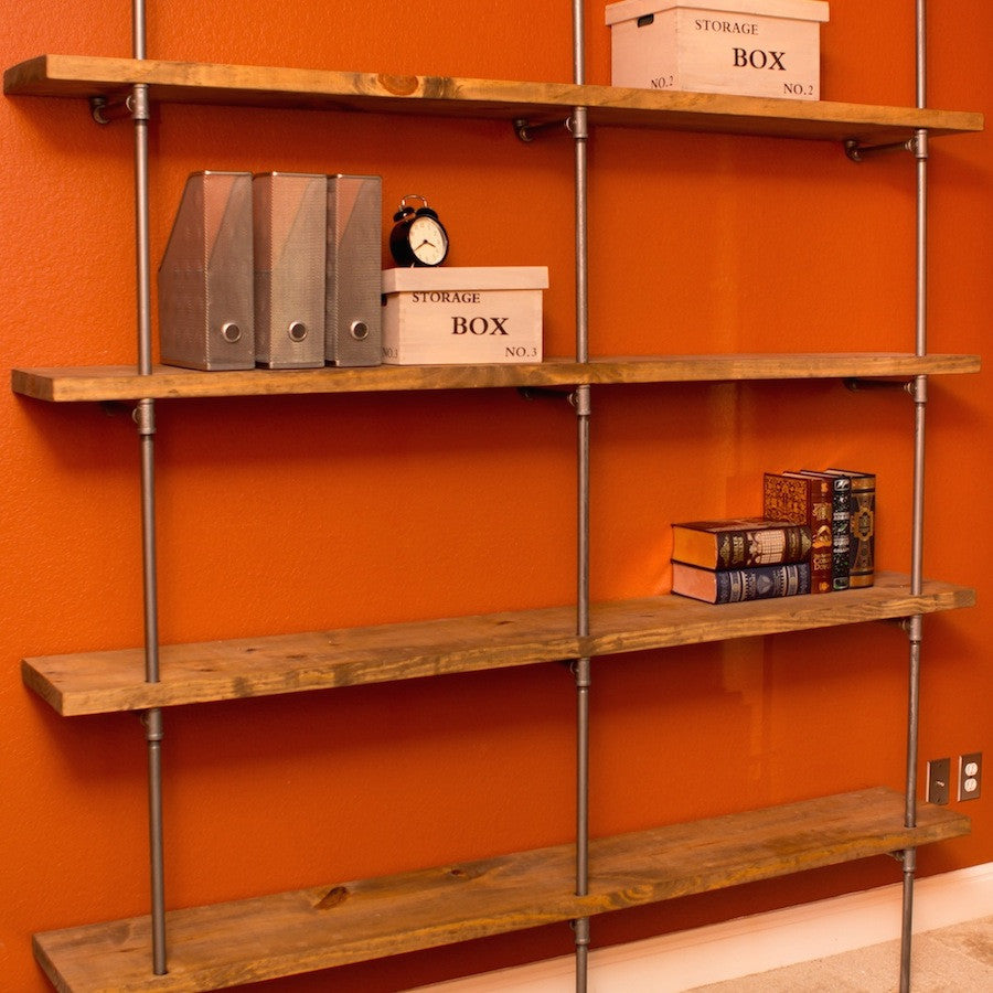 The concept of pipe shelving