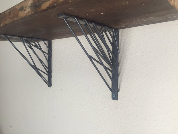 Brackets - Industrial Modern Wall Shelf Brackets