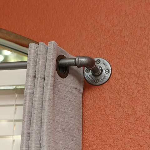 "Curtain Rod - Short Industrial Chic Curtain Rod (24""-48"")"