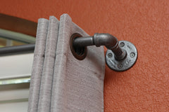 Short Industrial chic curtain rod (24