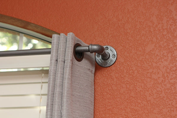Superior Curtain Rod   Short Industrial Chic Curtain Rod ...