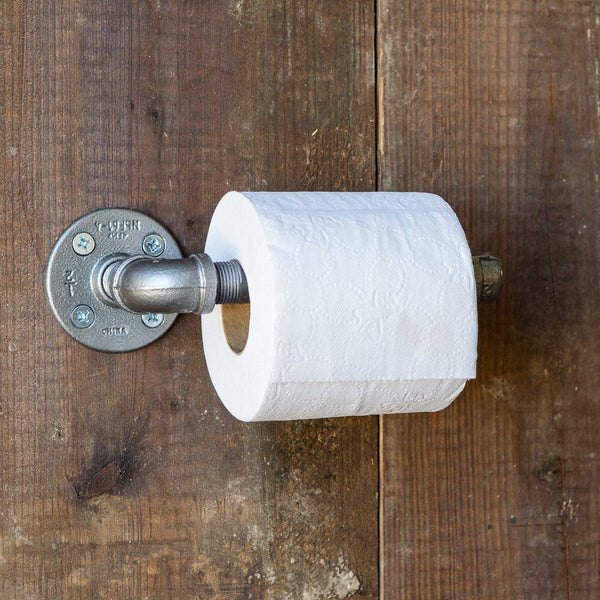 Organization - Industrial Pipe Toilet Roll Holder