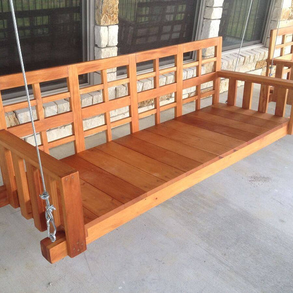 Porch Swing - Christianson Mahogany Porch Swing