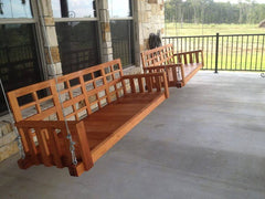 Porch Swing - Outdoor Furniture - Christianson Mahogany Porch Swing
