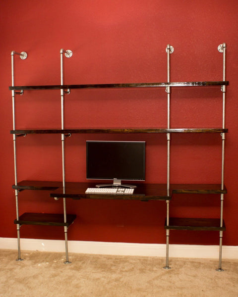 Shelving - Industrial Office Wall Unit