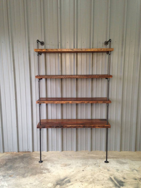 Shelving - Industrial Rustic Chic Shelf With Antique Wood