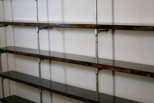 Shelving - Large Industrial Pipe Shelving Unit