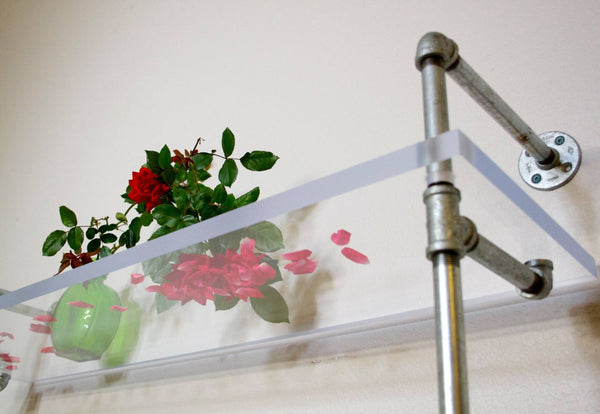 Shelving - Plexiglas Industrial Pipe Console
