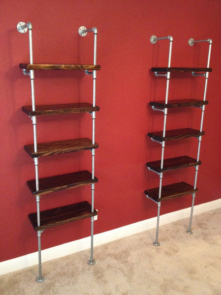 Shelving - Skinny Industrial Pipe Shelving
