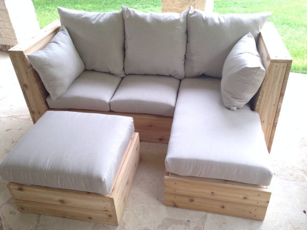 Sofa - Outdoor Sofa With Chaise