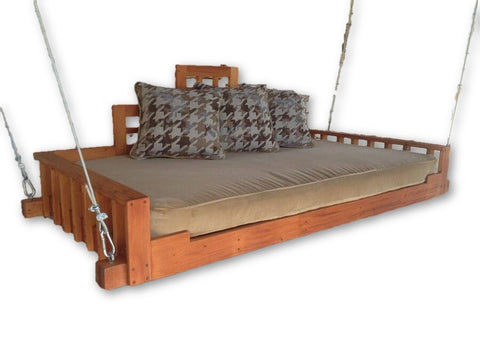 Swing Bed- Outdoor Furniture- Christianson Mahogany Swing Bed