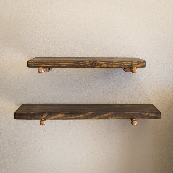 Wall Shelves - Industrial Floating Shelf Set