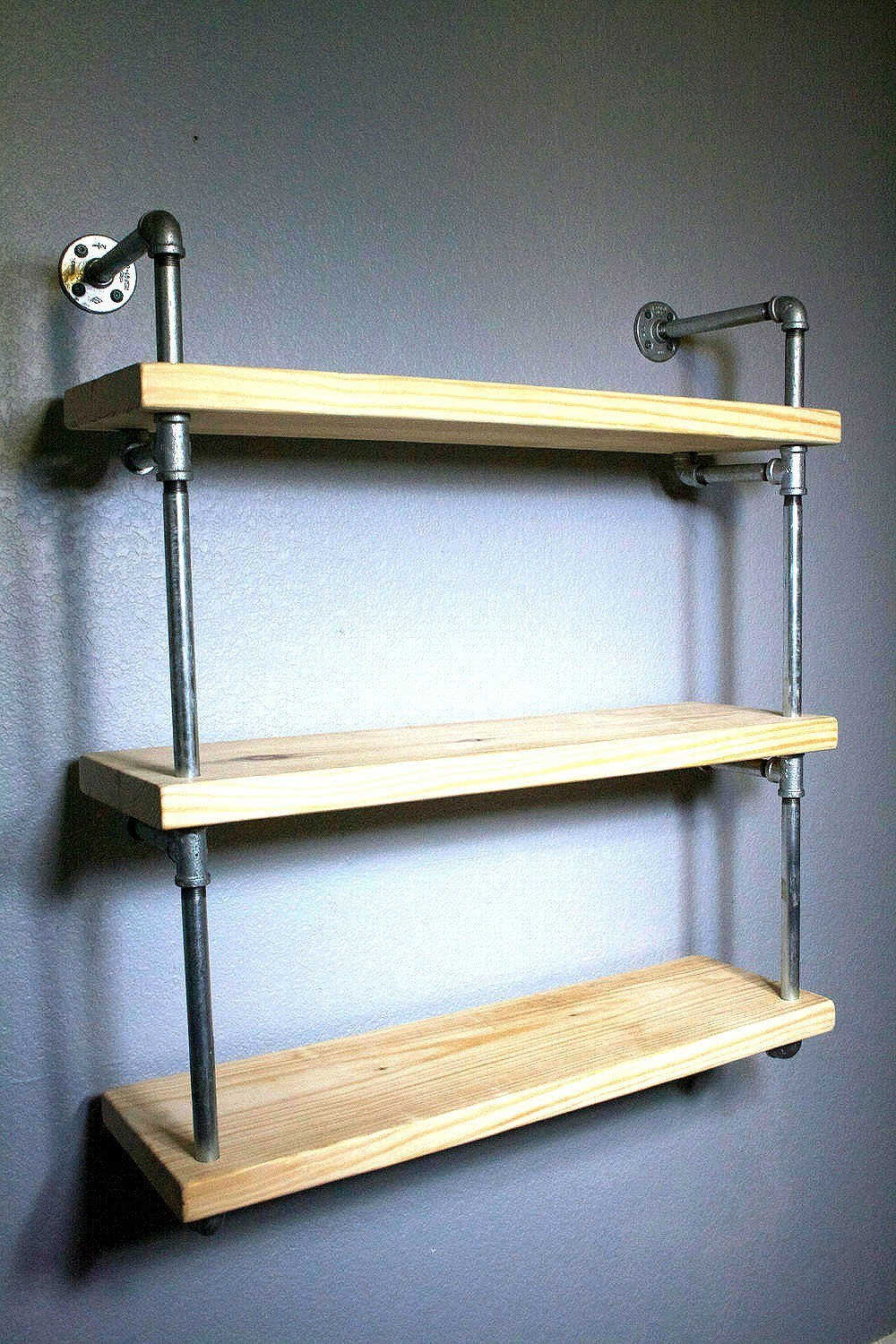 Wall shelves raw industrial wall mounted pipe shelf 1egv1483395677 amipublicfo Image collections