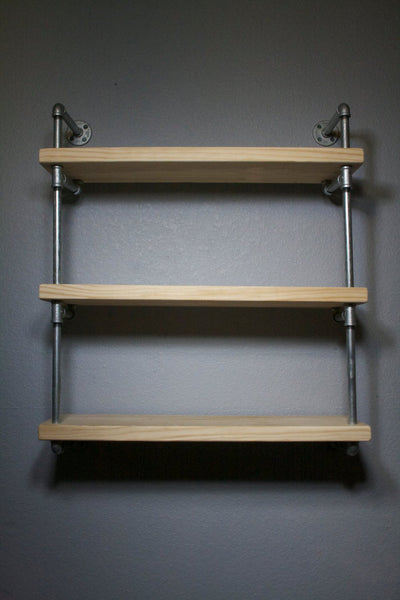 Wall Shelves - RAW Industrial Wall Mounted Pipe Shelf