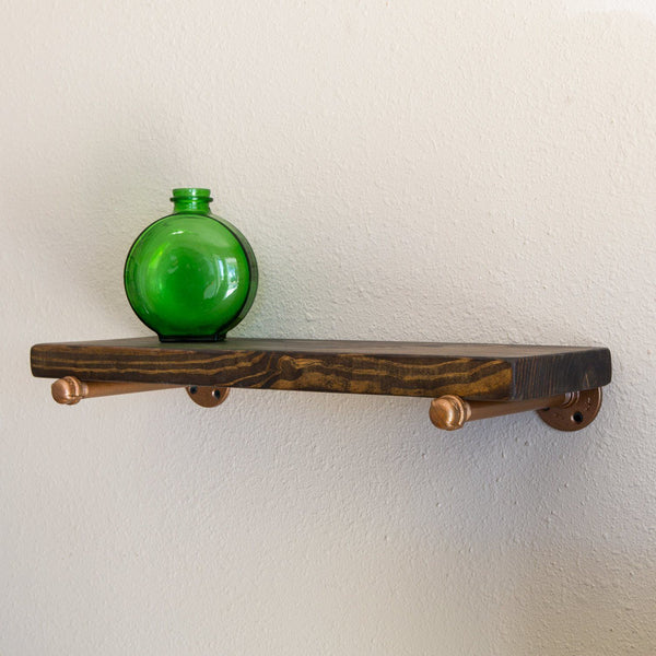Wall Shelves - Small Industrial Pipe Floating Shelf