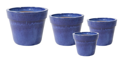 blue-cone-shaped-glazed-terracotta-pot-with-wide-rim