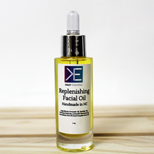 Replenishing Facial Oil : A lightweight oil that is packed with fatty acids to add radiance to dry skin.
