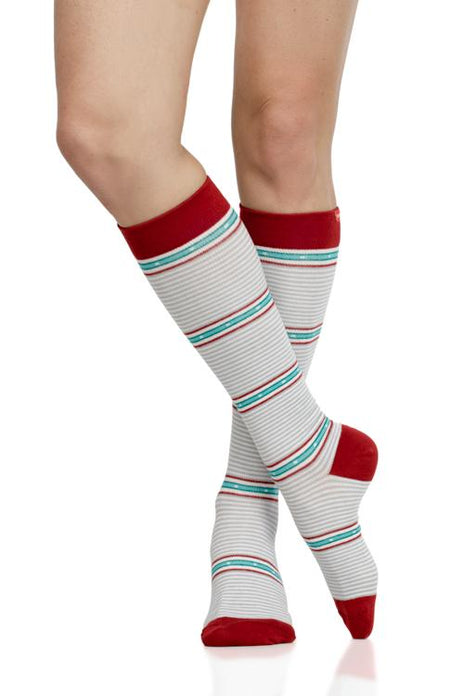 Arcade Stripe: White & Red(Cotton)