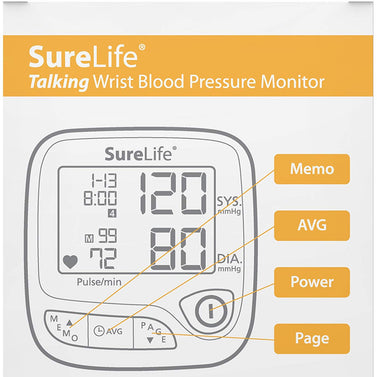 Surelife Wrist Talking Blood Pressure Monitor