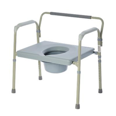 Bariatric Folding Powder Coated Steel Elongated Commode