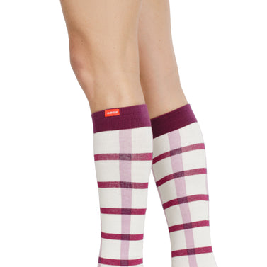 Block Plaid: Cream & Raspberry (Cotton)