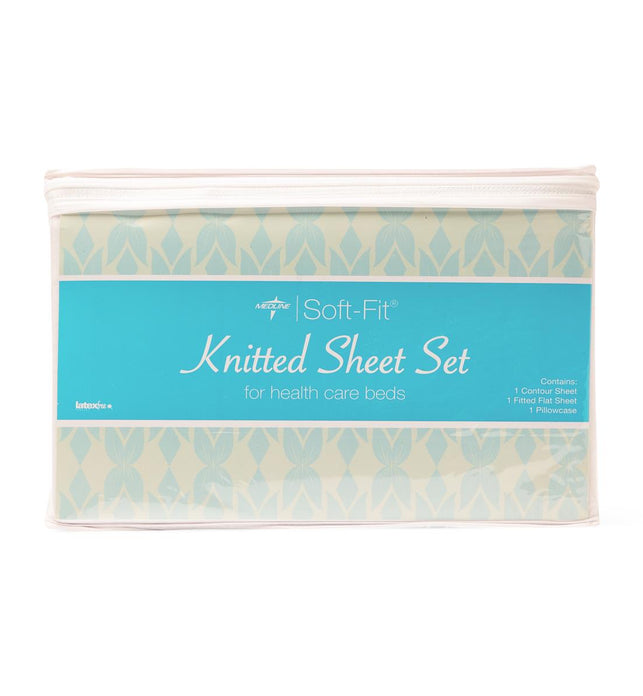 Soft-Fit Knitted Flat Sheets Set