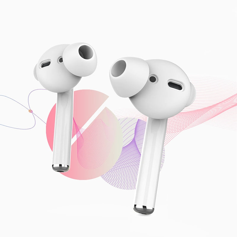 3 Pairs Noise Isolation Silicone Earbuds for AirPods 1/2 - PodJacket™ - PodJacket™