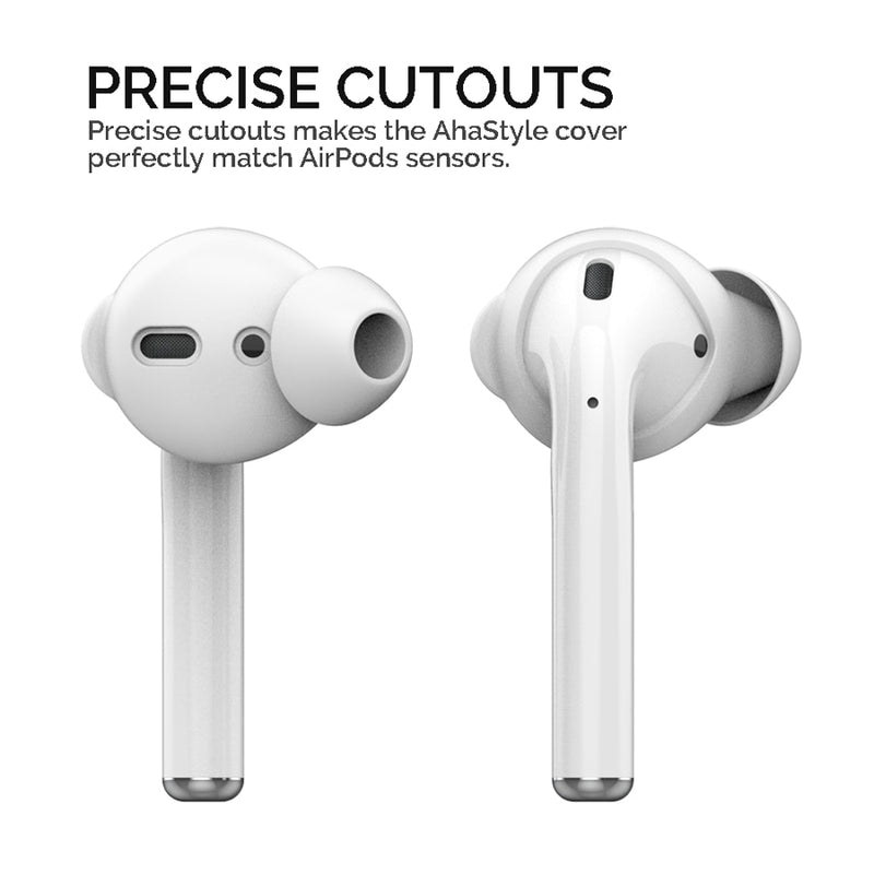3 Pairs Noise Isolation Silicone Earbuds for AirPods 1/2 - PodJacket™ - PodJacket AirPods Cases
