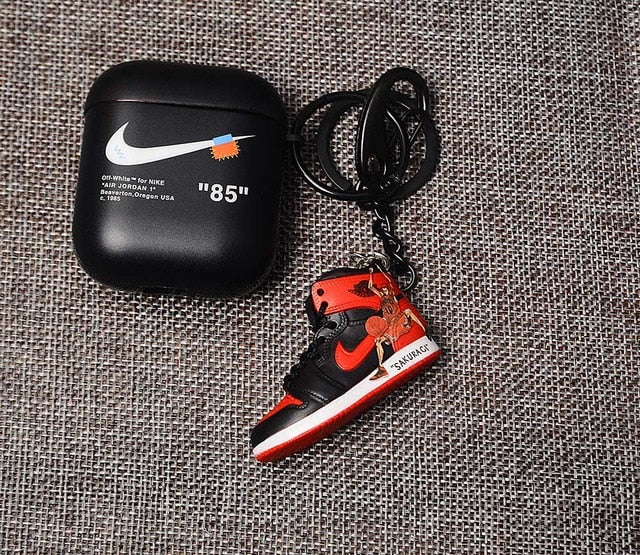 3d Sneakers Airpods Cases With Keychain Podjacket