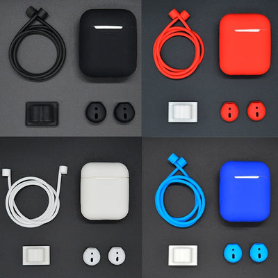 4 in 1 Set Accessories For AirPods - PodJacket™ - PodJacket AirPods Cases