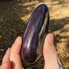 Load image into Gallery viewer, Purple Sheen Obsidian Palm Stone
