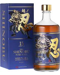 Whisky Shinobu 15 Years Japanese Old Pure Malt  Mizunara OAK Finish, 70 cl.