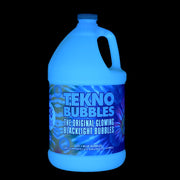 Gallon of Tekno Bubbles® Blue under blacklight