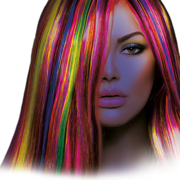 Intense Neon Hair Streaks