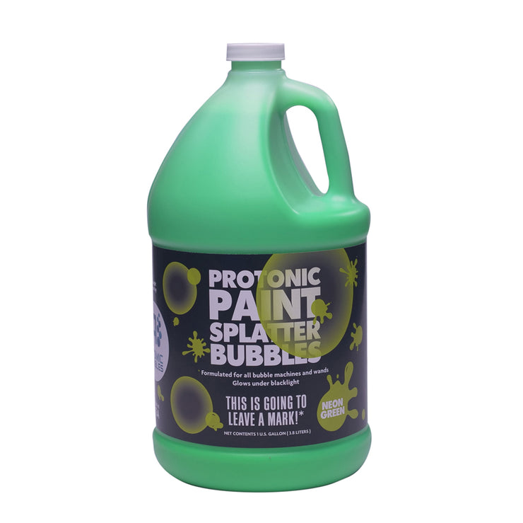 Protonic Paint Splatter Bubbles 32 oz Neon Green Atomic Bubbles