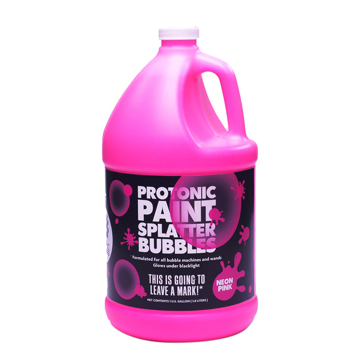 Protonic Paint Splatter Bubbles 1/2 Gallon Neon Pink Atomic Bubbles