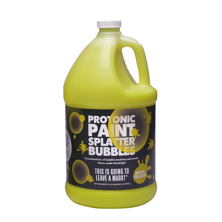 Protonic Paint Splatter Bubbles 32 oz Neon Yellow Atomic Bubbles