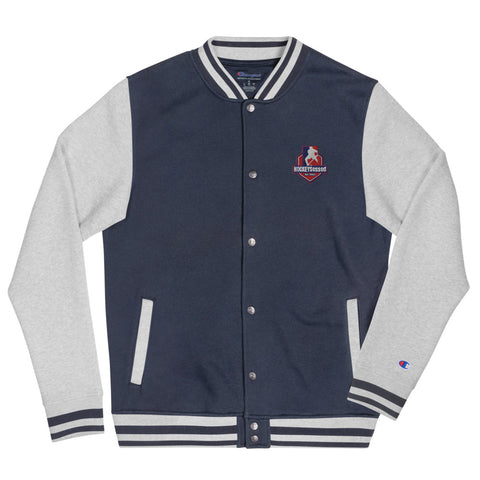 Hockeysessed Embroidered Champion Bomber Jacket