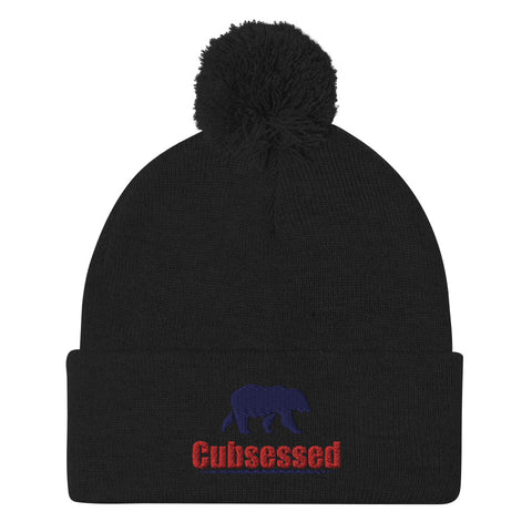Cubsessed Pom-Pom Beanie