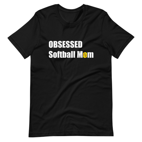 Obsessed Softball Short-Sleeve Unisex T-Shirt