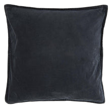 Load image into Gallery viewer, Midnight Blue Velvet Cushion Cover