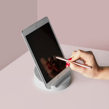 Load image into Gallery viewer, Concrete Tablet Stand & Stylus