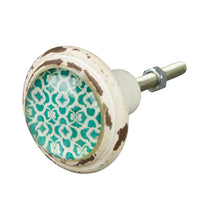 Load image into Gallery viewer, Green Vintage Style Istanbul Drawer Knobs