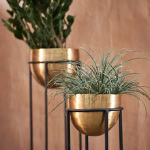 Load image into Gallery viewer, Atsu Brass Planter on Stand