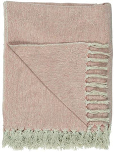 Faded Rose and Cream Throw