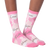 K Bell - Women's Pink Ribbon Crew Socks