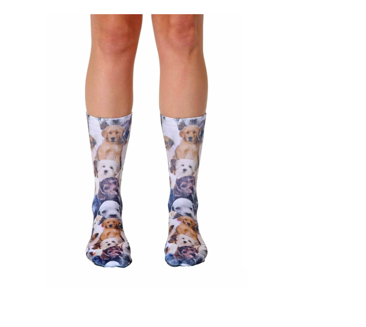Living Royal - Crew Socks - Puppy All Over