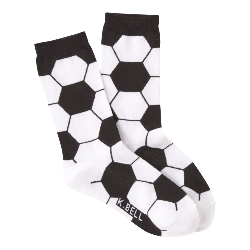 K Bell - Women's Soccer Ball Crew Socks