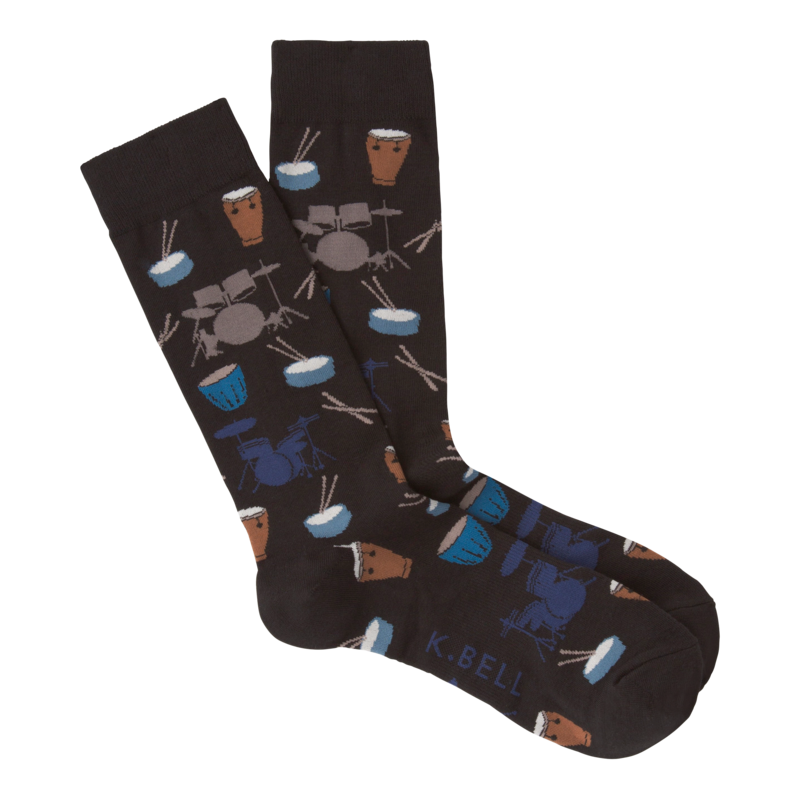 K Bell - Men's Drums Crew Socks